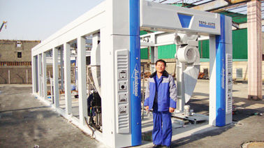 চীন Blue Brush Tunnel Car Washing Equipment For Washing 60 - 80 Vehicles Per Hour সরবরাহকারী